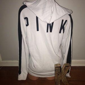Pink Victoria's Secret white hoodie small